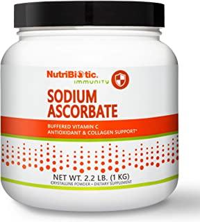 Nutribiotic - Sodium Ascorbate Buffered Vitamin C Powder, 2.2 pound | Vegan, Non Acidic & Easier on Digestion than Ascorbi...