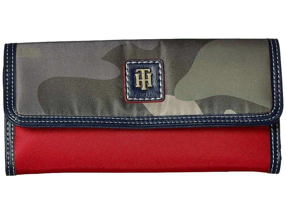 Tommy Hilfiger Julia Large Flap Wallet (Green) Wallet Handbags
