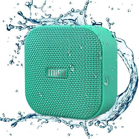 MIFA A1 グリーン Bluetoothスピーカー IP56防塵防水/コンパクト/マカロン色で可愛い/TWS機能でステレオサウンド/12時間連続再生/ハンズフリー通話/Micro SDカード対応 (グリーン)