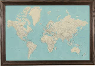 Best world map with frame Reviews