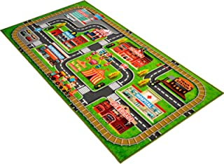 Kids Rug 58.5x31.5 Inch Play Mat for Baby -Sharellon Kids Rug with Non Slip Learn and Fun Safety Kids Play Mat Rug Educati...