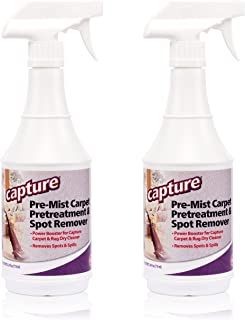 Capture Carpet Cleaner Soil Release Pre-Mist 24 Ounce - 2 Pack - Loosens The Toughest Dirt, Odors, Grease, Smell and Allergens