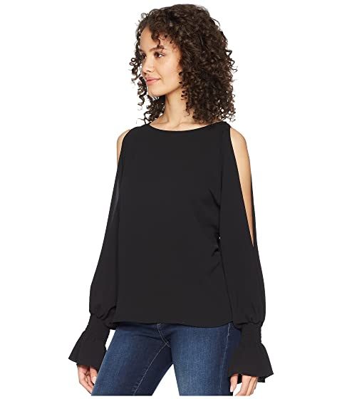 Vince Cold Shoulder Boat Flare Cuff Blouse Camuto Neck 4qwUr46