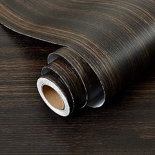 Wolpin Wall Stickers Wood Wallpaper DIY Vinyl Shelf Liner, Door, Furniture, Almirah, Table Top, Wardrobe, Kitchen Cupboard...