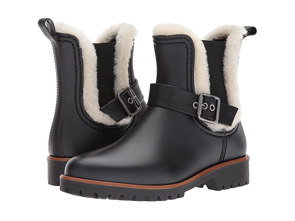 Bernardo Zain Rain (Black/Natural Shearling) Women