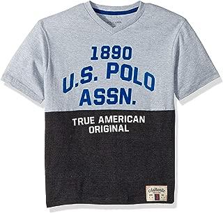 Boys' Short Sleeve Printed V-Neck T-Shirt