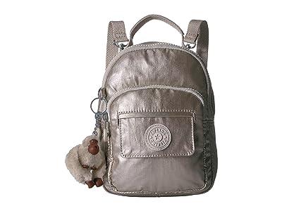 Kipling Alber Crossbody (Cloud Grey Metallic) Cross Body Handbags