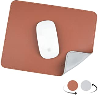 YXLILI Mouse Pad, Dual-Sided PU Leather Mouse Mat, Waterproof Ultra Smooth Mousepads with Stitched Edge Computer Mouse Pad...