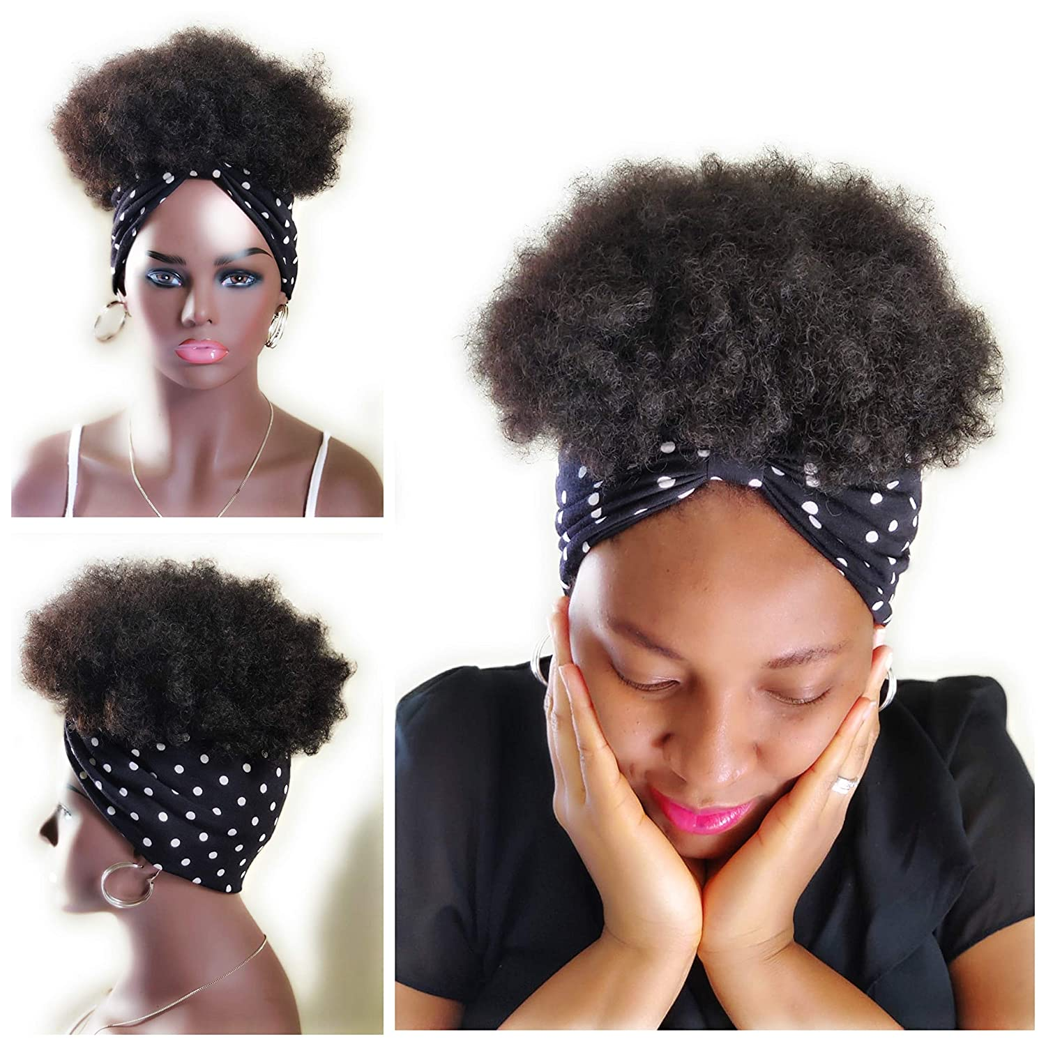 2 National uniform free shipping Ranking TOP7 in 1 wrapwig fusion head Afro W kinky wrap wig