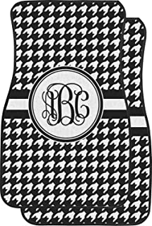 RNK Shops Houndstooth Car Floor Mats (Front Seat) (Personalized)