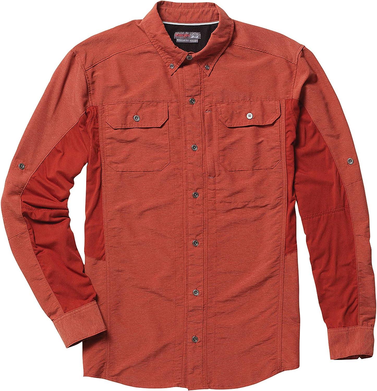 Wrangler Men's Outdoor Wicking Mixed Material Utility Shirt - BH