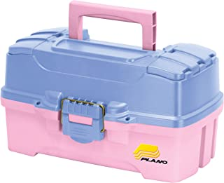Plano 2-Tray Tackle Box with Dual Top Access, Periwinkle/Pink