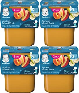 Gerber 2nd Foods Apricots Mixed Fruit (Pack of 4)