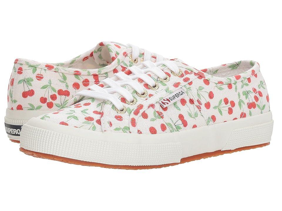 Superga 2750 Linen Fruitw Sneaker (Cherry Pat) Women
