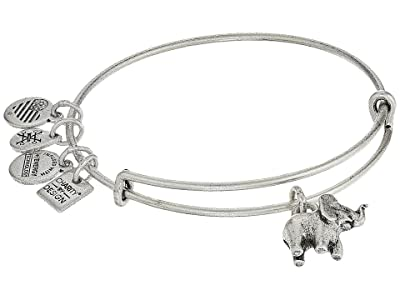 Alex and Ani Elephant II Bangle (Rafaelian Silver) Bracelet