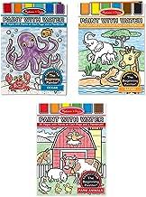 Melissa & Doug Paint With Water Activity Books Set: Farm, Ocean, Safari