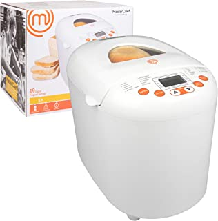 MasterChef Bread Maker- 2-Pound Programmable Machine w 19 Settings and 13-Hour Delay Timer- FREE Recipe Guide Included