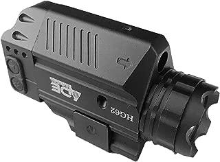 Ade Advanced Optics HG62-1 Strobe Green Laser Flashlight Sight for Pistol Handgun, Black