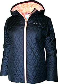 Columbia Youth Girls Butterfly Lodge Insulated Hooded Jacket (M 10/12) Black