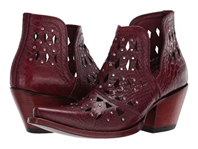 Ariat Dixon Studded (Red Snake) Cowboy Boots