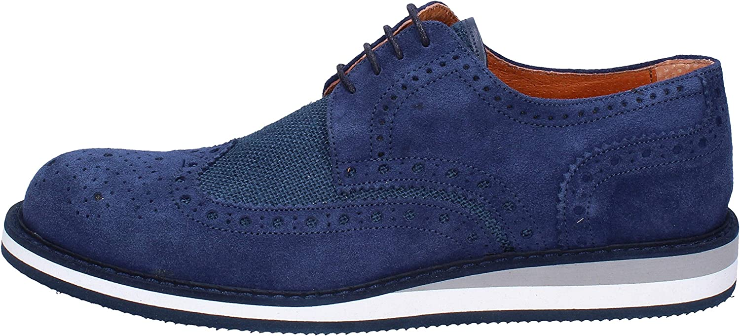 SESTO SENSO Oxfords-shoes Mens Suede bluee