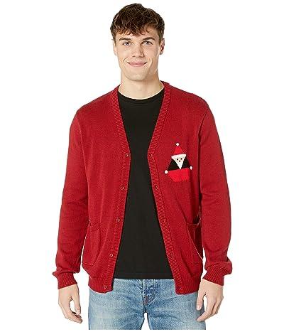 Volcom Santa Stone Cardigan (Deep Red) Men