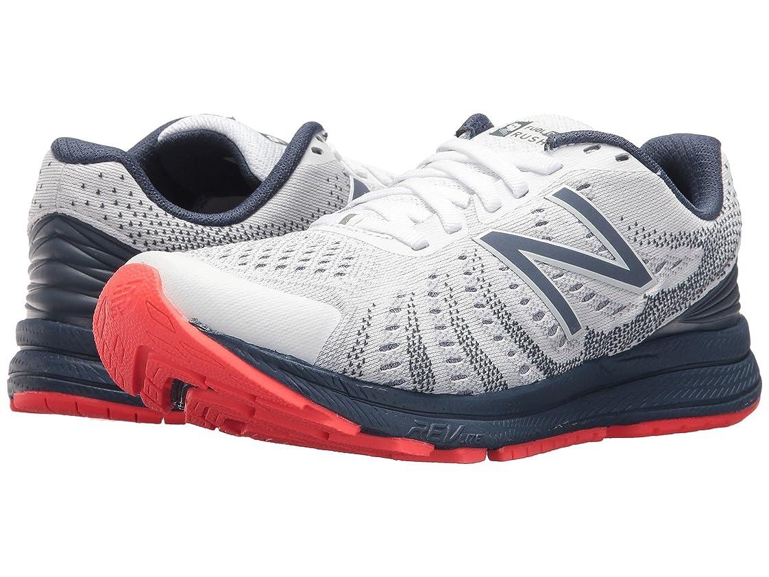 マイル放棄された飛躍(ニューバランス) New Balance レディースランニングシューズ?スニーカー?靴 Rush V3 White/Vintage Indigo/Vivid Coral 12 (29cm) B - Medium