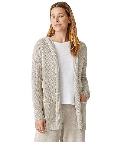 Eileen Fisher Long Hooded Cardigan in Peruvian Organic Cotton