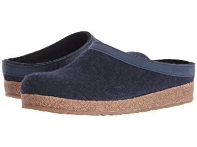 Haflinger GZL Leather Trim Grizzly (Blue) Clog Shoes