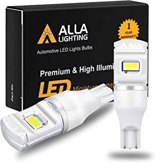 Alla Lighting 2800lm ETI-56 912 921 LED Reverse Lights Bulbs Xtreme Super Bright 12V 921KX Back Up Light SMD T10 T15 906 W16W Replacement for RV, Cars, Trucks, 6000K Xenon White