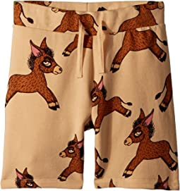 mini rodini - Donkey All Over Print Sweatshorts (Infant/Toddler/Little Kids/Big Kids)