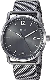 Fossil Men's Black Dial Stainless Steel Band Watch - FS5419