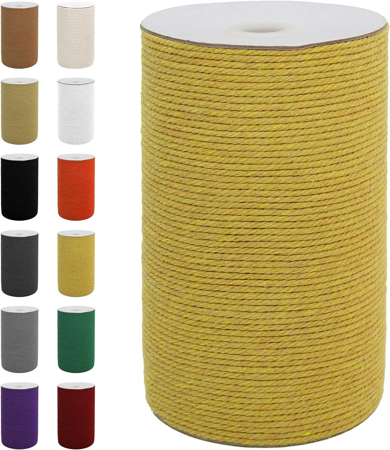 SUNTQ Macrame Cord 3mm 4 Max 71% OFF Strand Rope Cotton 24 Twisted mart
