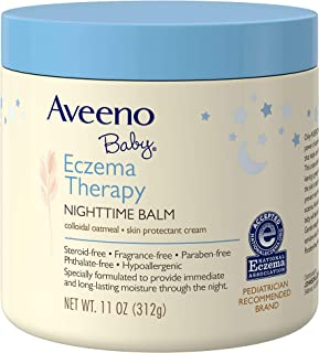 Aveeno Baby Eczema Therapy Nighttime Balm with Natural Colloidal Oatmeal for Eczema Relief, 11 oz.