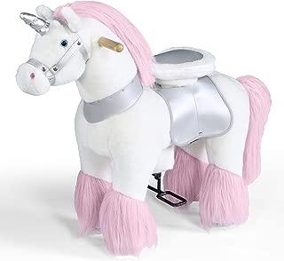 FAO Schwarz 骑乘独角兽,带集成车轮和前轮驱动,软毛绒毛皮和鬃毛,内置鞍座和车把