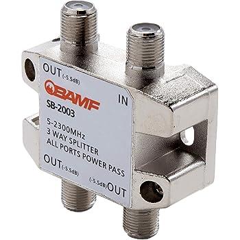 BAMF 3-Way Coax Cable Splitter Bi-Directional MoCA 5-2300MHz