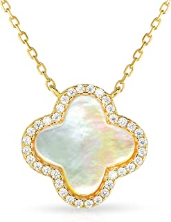 van cleef inspired clover necklace