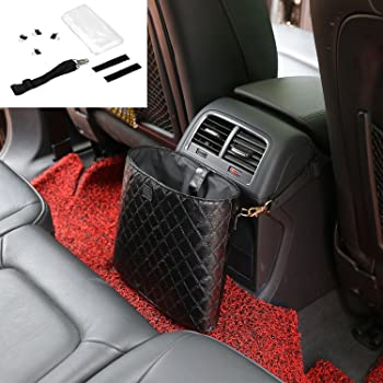 YIKA Car Garbage Bag Vehicle Rubbish Container Back Seat Hanging Auto Organizer for Mercedes Benz AMG Class C E ML//GLA//GLC