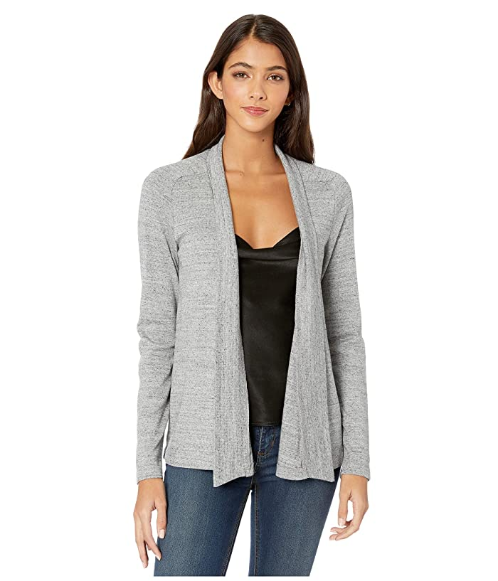 Splendid  1x1 Classic Cardigan (Gravel Heather Grey) Womens Clothing