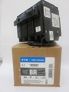 cutler hammer br350st 3 pole circuit breaker with shunt trip 50 amp 240 volts