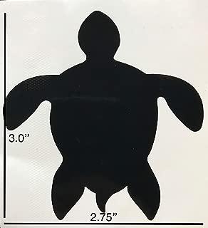 Retractable Screen Door Decals (Stickers) - 5 per Package - Keep Children Safe - Alert Birds, Dogs, Kids - Warn, Protect, Window Safety - Sea Turtle (Black)