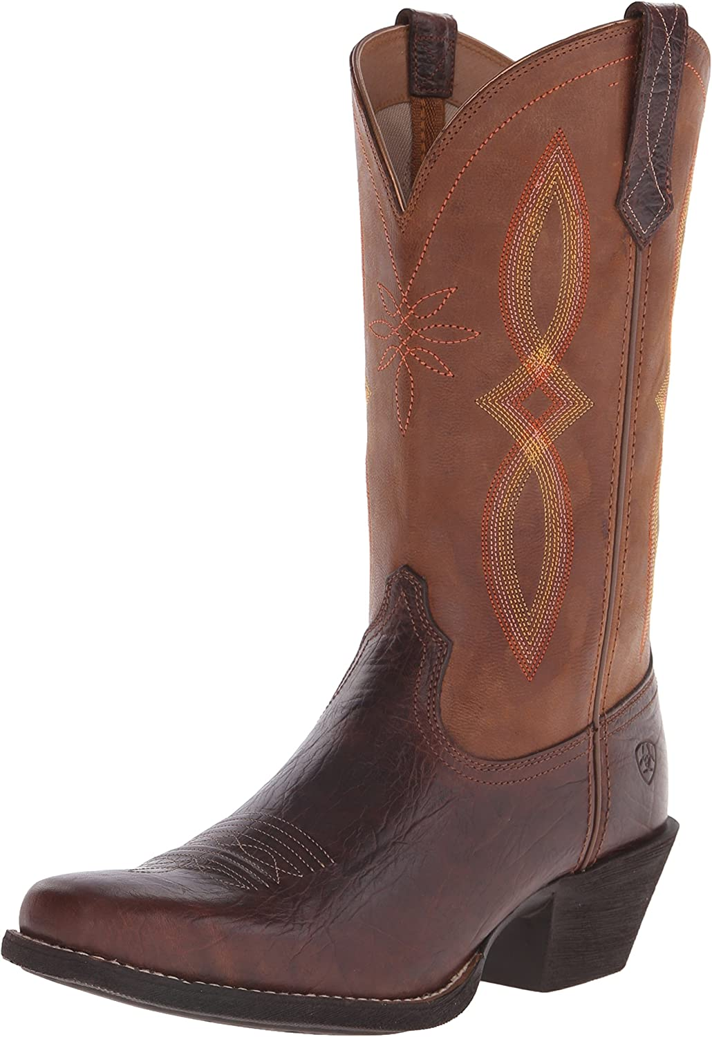 Ariat Women's Round Up Narrow Square Toe II Western Cowboy Boot Brown