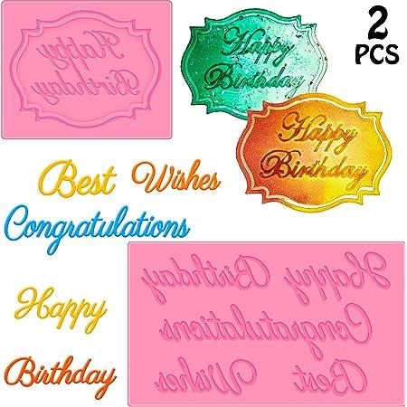 Silicone Joyeux Anniversaire Moule Cake Icing parti de célébrer le jour même dépêche long