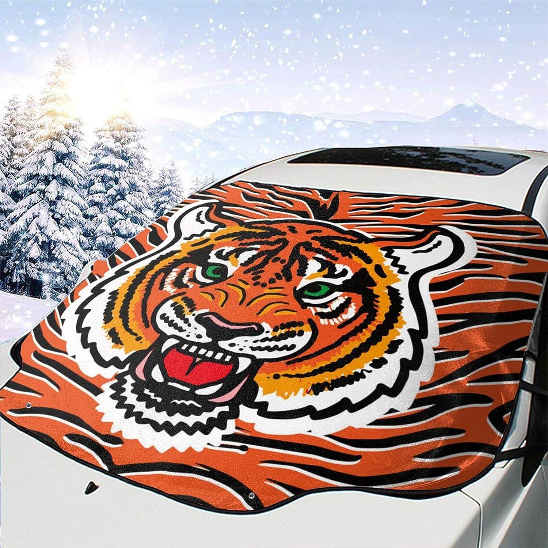 BINATI Wild Tiger Print Branded goods Windshield Wi Protector Snow Visor Cover Special sale item