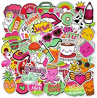 EKIND Not Repeat Graffiti Stickers for Tablet Skateboard Car Decals Bicycle (50Pcs, Cute Art)