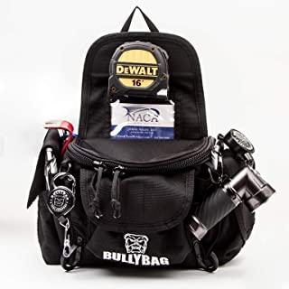 BullyBag Ultra Pouch BABSON - Adjuster/Estimator/Inspector/Roof Sales & more Field Success Tool Carrier with BELT LOOP style attachment - includes a BullyBag Badge & a Bullybag Gear Retainer