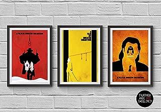 Quentin Tarantino Trilogy Minimalist Poster Set The Hateful Eight Kill Bill Pulp Fiction Print Illustration Wall Artwork Home Decor Hanging Cool Gift