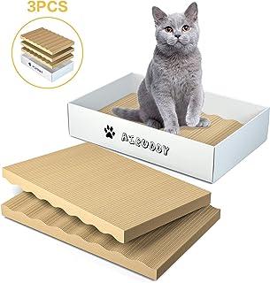 Aibuddy 爪とぎ 猫 段ボール 詰め替え用3個セット 両面使える 爪磨き 波型 高密度 耐久 経済的 ストレス解消