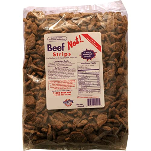 Dixie Diners' Club - Beef (Not!) Strips, 1 lb bag (Pack of 2)
