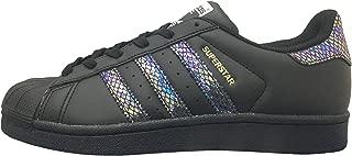 adidas Superstar J Black/Black/Black (Big Kid) (4 M US Big Kid)